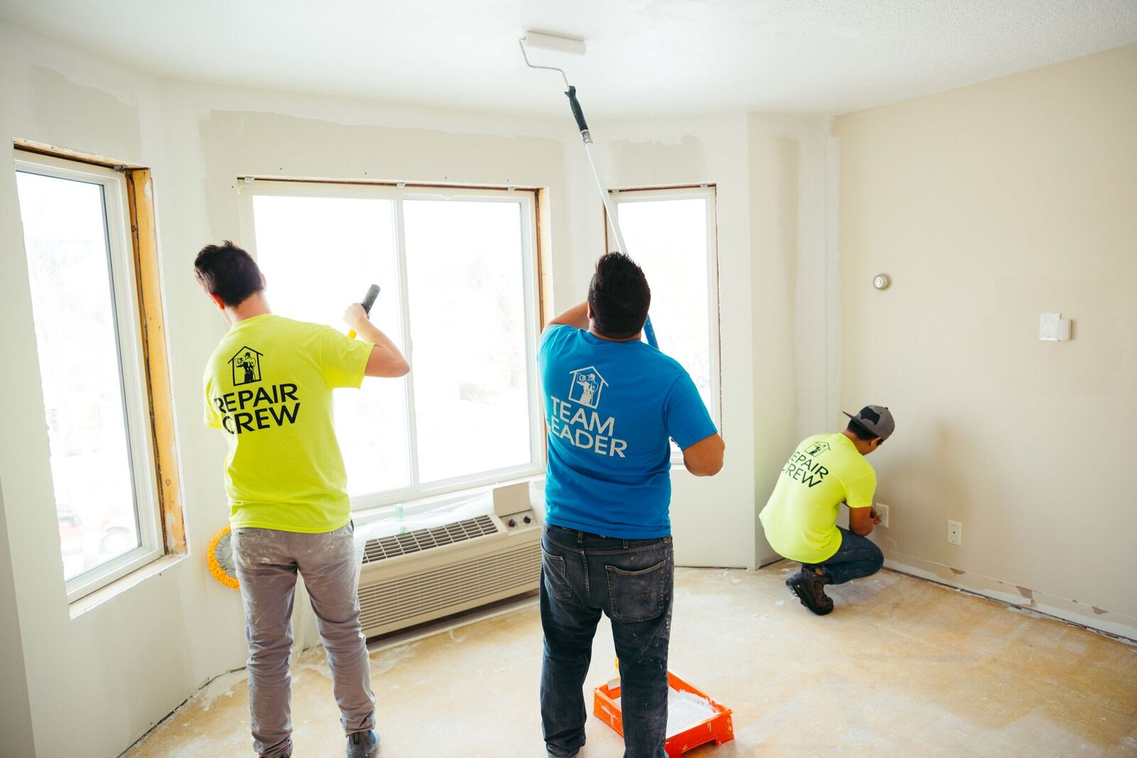 Accent Renovations Crew Repainting House